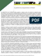 Rebelion. El Mito de Los Gobiernos Progresistas en Brasil