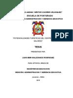 Tesis Potencialidad Turistica Del Centro Poblado de Salcedo