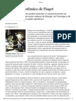 o Sujeito Epistêmico de Piaget