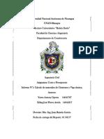 Primer Informe Costo