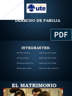 Derecho de Familia 1 Matrimonio
