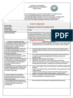Language Curriculum for Secondary Schools Course Outline