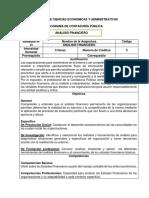 Plan de Asignatura Analisis Financiero