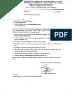 Revisi Jadwal Serdos Tahap II Tahun 2017