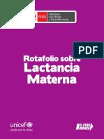 """Rotafolio """"Lactancia Materna"""""""
