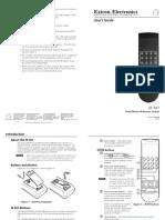 Appendix a.3 Manual for IR Remote Control