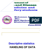 Descriptive Statistics for Medical Studnets 2016_2