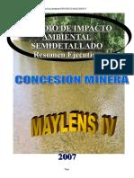 Resumen Ejecutivo Maylens IV