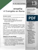 ESTUDIO BIBLICO  Pablo Enseña EN ROMA