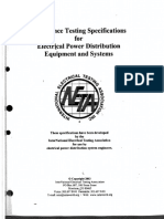 NETA - Acceptance Testing Spec for Electrical Power Dist Eqpt & Systems