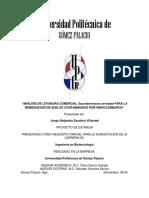 Analisis de Levadura Comercial de Saccharomyces Cervisiae Para La Remediación de Suelos Contaminados Por