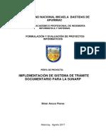 Proyecto Snip - Sistema de Trámite Documentario - Pip-TrabajaPerú
