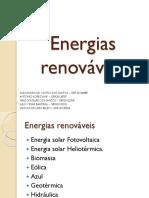 Seminário Engenharia Ambiental - Energias Renováveis