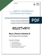 Recetario Bases y Tecnicas 2 .