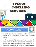 Types of Counselling Services