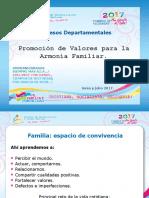 Plan Nacional de Armonía Familiar Junio y Julio 2018