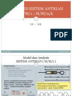 11-12 Analysis Sistem Antrian(m m 1 - m m n k)