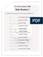 Simple Present -Routines (Worksheet)
