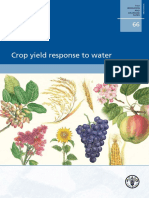 Crop Yield Response to Water FAO 66