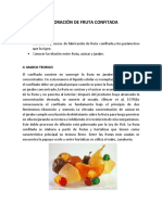Elaboración de Fruta Confitada