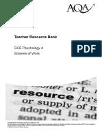 A-Level Psychology Workplan