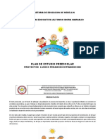 Plan de Estudio Preescolar