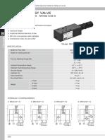 SANDWICH PLATE DESIGN MRV02 SIZE 6 PRESSURE RELIEF VALVE