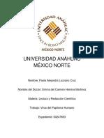 Virus del Papiloma Humano - Paola Alejandra Lozano Cruz