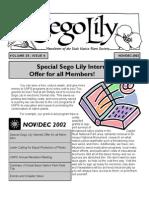 November-December 2002 Sego Lily Newsletter, Utah Native Plant Society