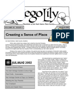 July-August 2002 Sego Lily Newsletter, Utah Native Plant Society