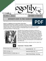 September-October 2004 Sego Lily Newsletter, Utah Native Plant Society