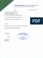 Annual o&m Report 2014 (Aqpp Kospo Qso 15 0015)