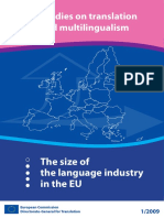 Study on the Size of the Language Industry in the EU