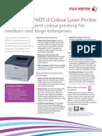 Fuji Xerox Printers DocuPrint CP405 d Brochure WEB_6572