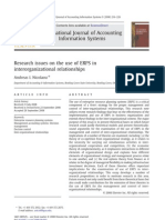 Research Isseus on the Use of ERPs in Interorganizatioal Relationship