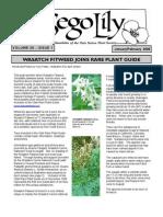 January-February 2006 Sego Lily Newsletter, Utah Native Plant Society