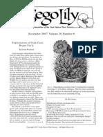 November-December 2007 Sego Lily Newsletter, Utah Native Plant Society