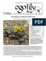 Nov-Dec 2009 Sego Lily Newsletter, Utah Native Plant Society