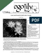 Sep-Oct 2009 Sego Lily Newsletter, Utah Native Plant Society