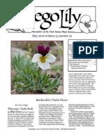May-June 2010 Sego Lily Newsletter, Utah Native Plant Society