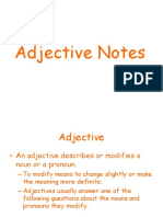 Adjective Notes 2