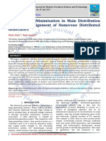 Effective Loss Minimization in Main Distribution System by Assignment of Numerous Distributed Generators