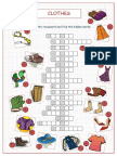 33610 Clothes Crossword Puzzle