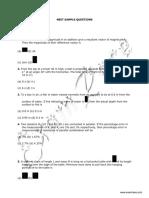NEET Sample Questions