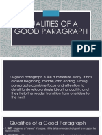 qualitiesofagoodparagraph