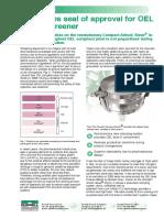 Innovative high performance circular screener for sieving pharmaceutical powder