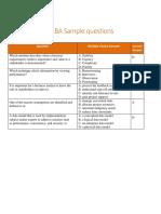 New Ecba Sample Questions