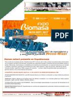 Invitacion Hersan Wood-Mizer a  Expobiomasa 2017 en Valladolid