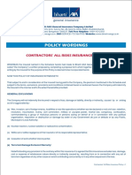 18. Contractors All Risks - Policy Wordings.pdf