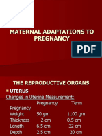Maternal Adaptation Power Point